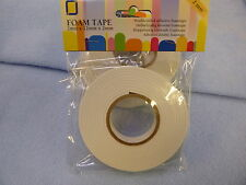 DOUBLE SIDED FOAM TAPE 2mm thick for card craft & decoupage 2 roll pack