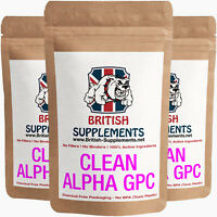 Clean Alphaa GPC 323mg Strongest ? Brain Focus Learn Memory British Supplements