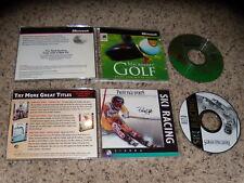 Ski Racing & Microsoft Golf - PC Games Near Mint