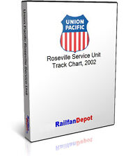 Union Pacific Roseville Service Unit track chart 2002 - PDF on CD - RailfanDepot