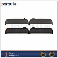 4Pcs Door Handles Black Outside R/L Front Rear Fits 95-99 Tercel 96-98 Paseo