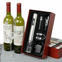 Elctric Bottle Opener Chargeable Wine Opener Set One Button Design W/ 4 Parts
