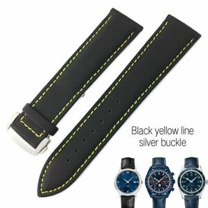 19 20 21 22 Nylon Leather Watch Band Strap For Omega Seamaster 300 Planet-Ocean