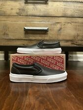 VANS Classic Slip On Black Leather New Old Skool size 4.5 & 5.5 VN0A38F7P30