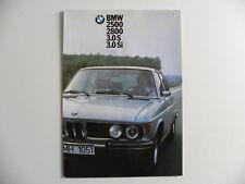 Brochure BMW 2500 - 2800  3.S  et 3.Si  de 02 / 1974