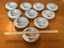 Fukagawa Arita Handpainted China 928 Silver Wheat Chopstick Holders Lot 10 Japan