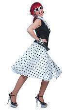 Ladies Rock N Roll 1950s Grease Fancy Dress Skirt White Lady Costume UK 10 - 14