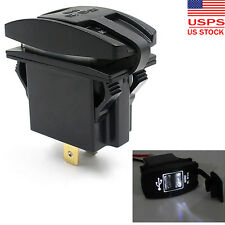 12V 24V Car Auto Boat Accessory Dual USB Charger Power Adapter LED Outlet US