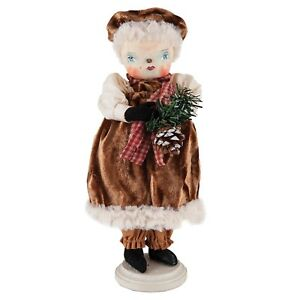 Joe Spencer Fannie Snow Woman Doll Decoration Christmas Holiday Classic Folk Art