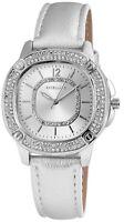 Damenuhr Silber Analog Metall Leder Strass Armbanduhr Quarz Uhr D-60463615203650