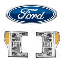 For Ford Super Duty F-250 F-350 F-450 17 Pair Set of Front Halogen Headlight OES