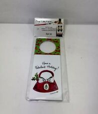 Timree Gold Merry Christmas Purse Shoes Bottle Wine Oil Gift Tags Pack Of 8 New