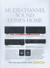 "Denon ""Multi Channel Sound Comes Home"" 2000 Magazine Advert #199"