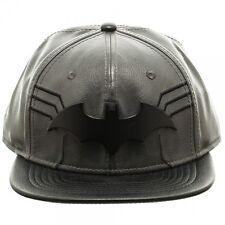 OFFICIALLY AWESOME DC COMICS BATMAN METAL SYMBOL PU SNAPBACK CAP (BRAND NEW)