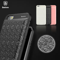 iPhone 7 7 Plus BASEUS Plaid Backpack Power Bank Charging Battery Case For Apple