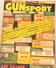 GunSport Magazine Varmint Combos Gunsmiths July/August 1967 080517nonrh