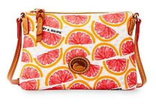 Dooney & Bourke Nylon Crossbody Pouchette Purse Shoulder Bag (Grapefruit) NWT