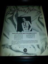Sylvia Tyson Woman's World Rare Original Promo Poster Ad Framed!