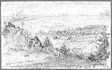 LÉON BERVILLE DESSIN ORIGINAL 1898 NÉRIS-LES-BAINS Allier Montluçon Commentry