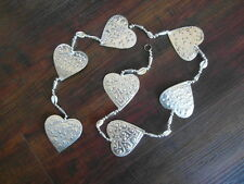 Balinese handcrafted aluminium hanging decoration hearts - 125cm
