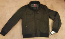 Men's Tommy Hilfiger Performance Bomber Jacket w/ Hidden Hood Black Size M NEW