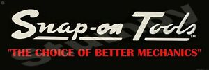 """Snap on Tools  Metal Sign 6"""" x 18"""""""