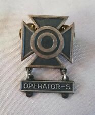 "US Army Marksman Badge OPERATEUR-S ""NS MEYER NY"""