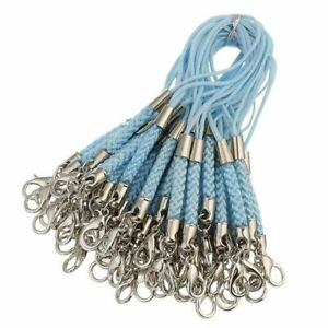 Cell Phone Straps 50pcs 12 Colors Braided Lanyard  Diy Making With Lobster Clasp
