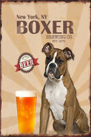 Metal Tin Sign boxer brewing co Pub Home Vintage Retro Poster Cafe ART