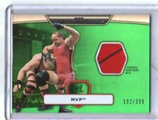 WWE MVP 2010 Topps Platinum Green Event Used Shirt Relic Card SN 102 of 399