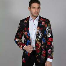 Claudio Lugli Mens Textured Jacket - Floral Gold Inter-winded Pattern