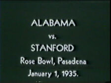 1935 Rose Bowl Game DVD Alabama vs Stanford HUTSON BRYANT GRAYSON Free Shipping