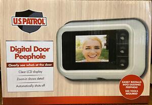 NIP Jobar US Patrol Digital Door Peephole JB7688 LCD Display Brand New Zoom