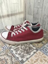 Converse Burgundy Low Top Trainers With Padded Ankles Sz4/37