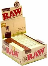 Raw King Size Slim Organic Natural Hemp Gum Rolling Papers Full Box of 50 Packs