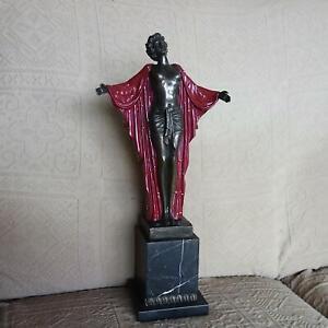 Art Deco, Bronze, Skulptur, signiert Chiparus
