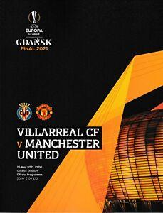 2021 UEFA EUROPA LEAGUE FINAL MANCHESTER UNITED V VILLARREAL