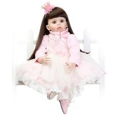 28'' Reborn Toddler Doll Soft Vinyl Silicone Baby Real Girl Long Hair Doll gifts