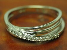14kt 585 White Gold Jewelry Set with 0,25ct Brilliant Decorations/Ring & Studs