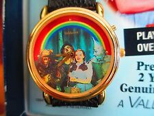 """VALDAWN COLLECTIBLE WIZARD OF OZ MUSICAL WATCH """"SOMEWHERE OVER THE RAINBOW"""""""