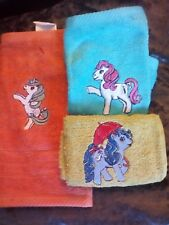MY LITTLE PONIES CLOTHS/FLANNELS/LOVELY EMBROIDERED  TOWEL SETS GIFTS CUTE KIDS