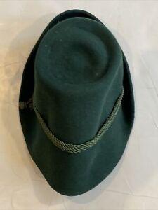 Vintage 1950's Stephanie Mayer Bavarian German Hat Oktoberfest Green (Small)
