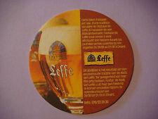 Beer Brewery Coaster ~**~ Biere d'Abbaye LEFFE <*^*> Leuven, Belgium Since 1240