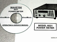 WAVETEK 8531 Power Meter, Operating & Service Manual