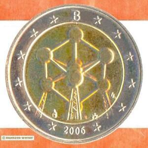 Sondermünzen Belgien: 2 Euro Münze 2006 Atomium Sondermünze zwei€ Gedenkmünze
