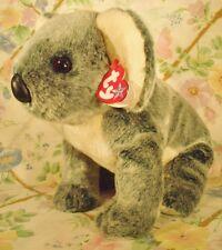 "1999 TY BEANIES BUDDIES PLUSH STUFFED TEAL GREY KOALA BEAR EUCALYPTUS MWT 12"""