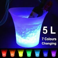 SMAD 7 Colors 5L LED Ice Bucket Champagne Wine Drink Beer Ice Cooler Bar GIFT