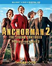 Anchorman 2: The Legend Continues (Blu-ray, 2014, 3-Disc Set) Factory Sealed