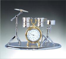 New Miniature Desk Drum Set Clock Ornament Novelty