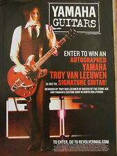 Queens of the Stone Age, Troy Van Leeuwen, Yamaha Guitars, Promotional Ad